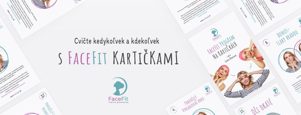 Cvičenia faceFit na praktických kartičkách